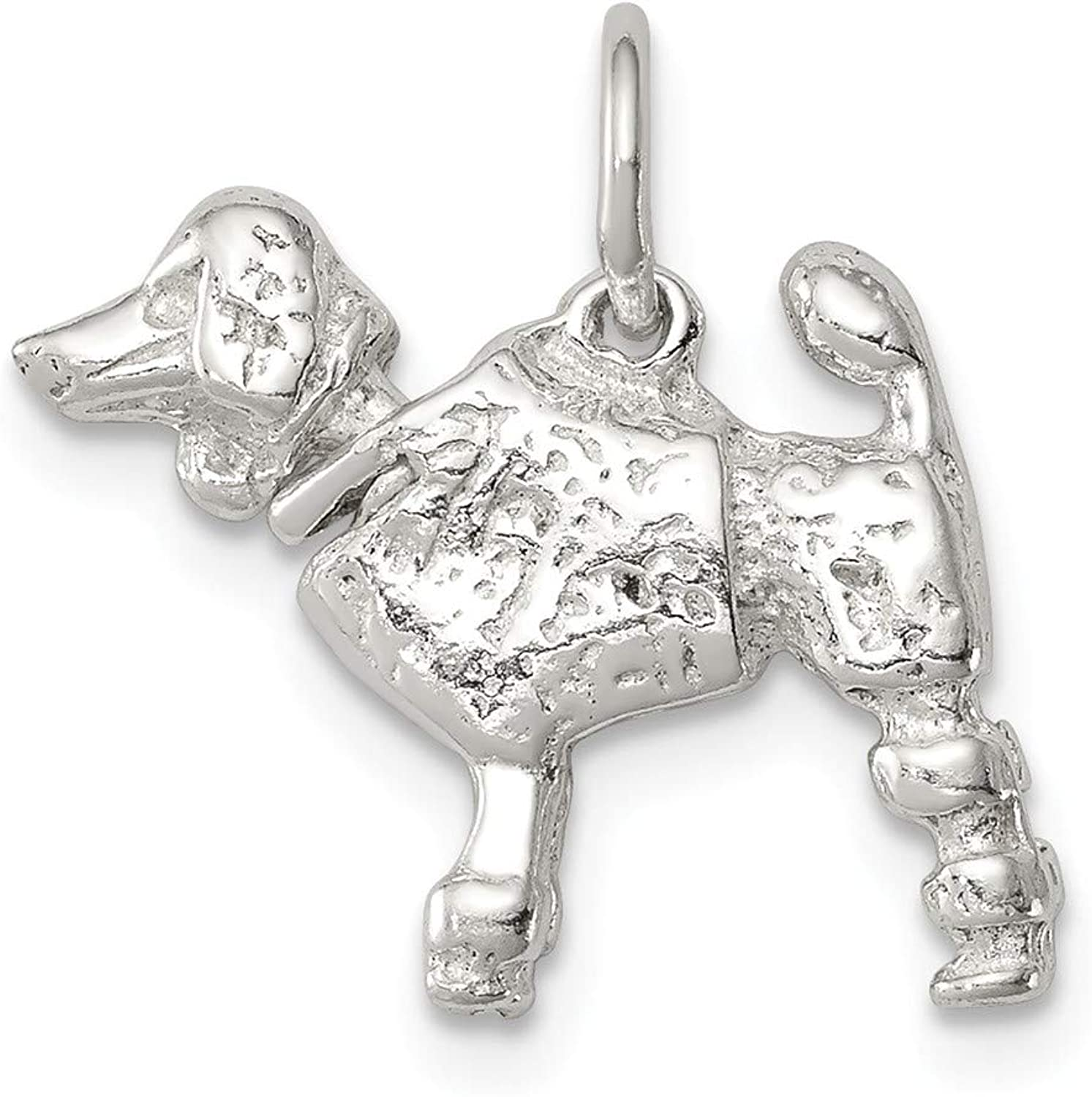 FB Jewels Solid Sterling Silver Poodle Charm
