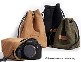 BEIYANG Mirrorless Camera Case, Waterproof DSLR Camera Bag Soft Portable Lens Case Gadget for Traveling Outdoor and Canon Nikon Sony Pentax Olympus Polaroid Shockproof DSLR Case Yellow Green Black
