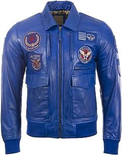 Aviatrix Men's Super-Soft Real Leather Patch Pilot Flying Fashion Jacket (9079)