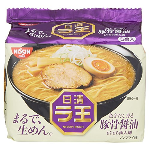 Nissin - Raoh Japanese Instant Ramen Pork Bone Soy Soup Noodles (For 5 Servings)