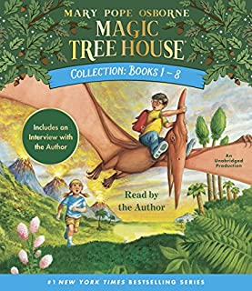Magic Tree House Collection: Books 1-8                   By:                                                                                                                                 Mary Pope Osborne                               Narrated by:                                                                                                                                 Mary Pope Osborne                      Length: 6 hrs and 1 min     1,298 ratings     Overall 4.4