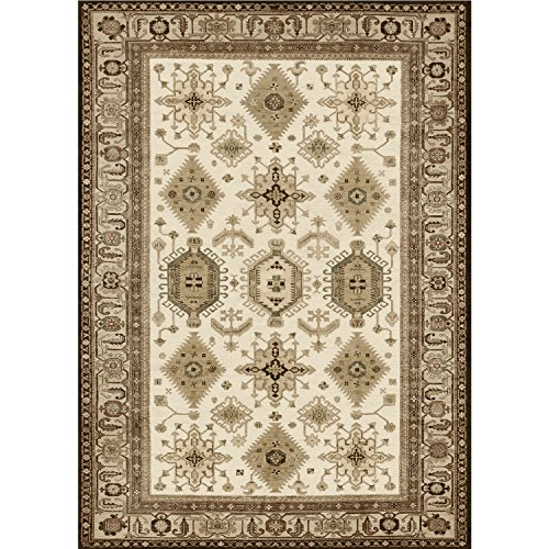 """RUGGABLE Washable Indoor/Outdoor Stain Resistant 5x7 (60""""x84"""") Area Rug 2pc Set (Cover and Pad) Noor Taupe"""
