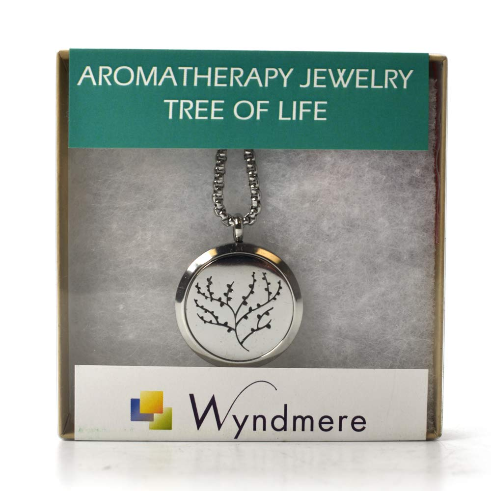 Tree of Life Diffuser Necklace with Locket