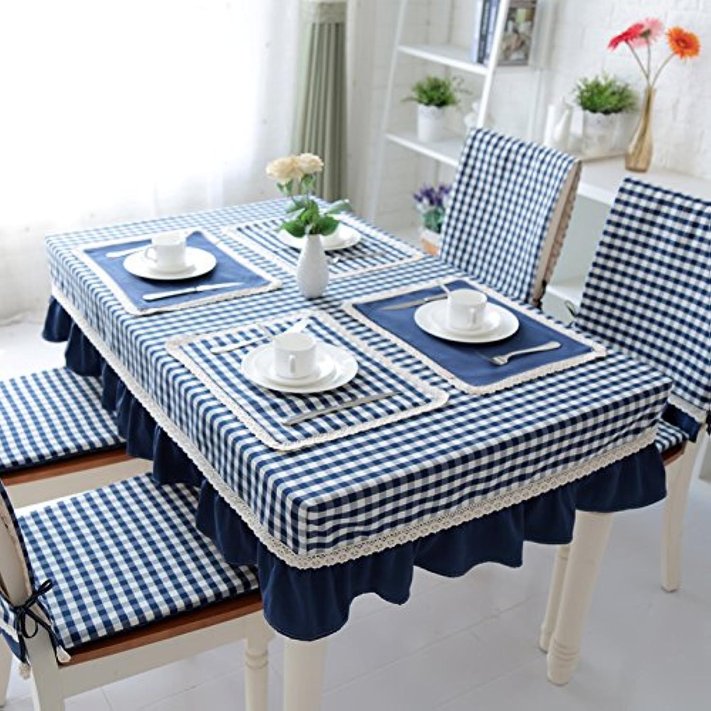 diseño único RUGAI-UE RUGAI-UE RUGAI-UE Paño de tabla tabla cubre jardín mediterráneo moderno traje de raso de algodón simple,Ocean azul,el tamaño del escritorio 15090 23cm  envio rapido a ti