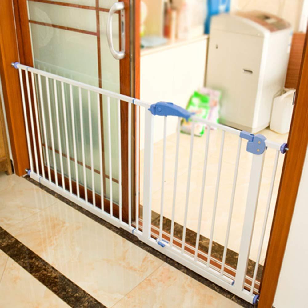 LITINGFC Bebé Puerta De La Escalera Barrera Hogar Interior for Mascotas Cerca Puerta De Aislamiento Sin Perforación Pasillo De La Escalera del Bebé Barandilla De Seguridad: Amazon.es: Hogar