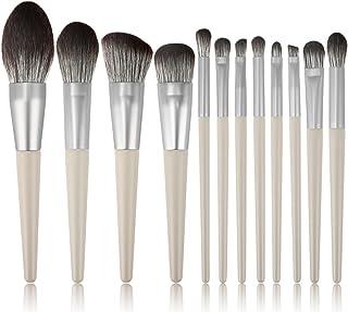 Make-up kwasten, elke set van 12 make-up kwasten Schoonheidstools Subgrijs houten handvat Schoonheidsborstels zijn geschik...