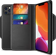 Maxboost mWallet Designed for Apple iPhone 11 Pro Max Case (2019, 6.5-inch) [Folio Cover] Premium PU Leather Credit Card Wallet Phone Holder Flip Cover/Side Pocket Magnetic Closure - Black