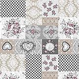 Tischdeckenstoff beschichtete Baumwolle Patchwork Rosen