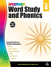 Spectrum Paperback Word Study and Phonics Book, Grade 4, Ages 9 -10