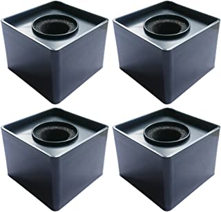 Actopus 4pcs Black Microphone Cube Interview Square Mic Flag Studio Equipment