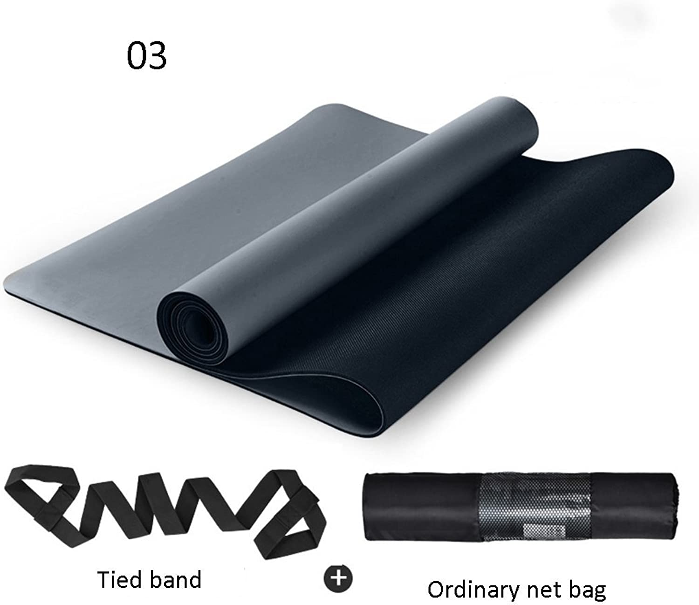 Yoga Mat, Yoga Mats 183cm  68cm  5mm Natural Rubber Portable Environmental Predection Non-Slip