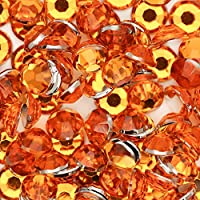 高級アクリルラインストーン 5サイズセット【1.5mm 2mm 3mm 4mm 5mm】【オレンジ】
