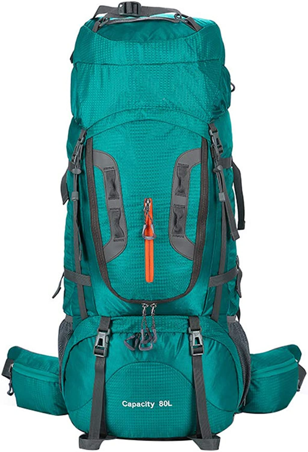 Backpack Opeof 80L Unisex Outdoor Camping Hiking Climbing Large Mountaineering Backpacks Bags  bluee