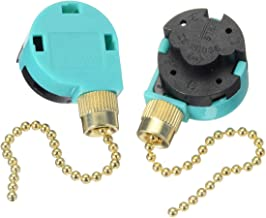 2 pack Ceiling Fans Replacement Parts Zing Ear ZE-268S6,Ceiling Fan Switch 3 Speed 4 Wire Pull Chain Cord Switch Appliances Replacement Speed Control for Ceiling Fans Wall Lamps