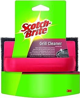 Scotch-Brite Grill Éponge + poignée, pour Grillades, Nettoyage Facile et Efficace des Barbecues et des Fours