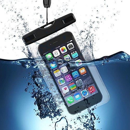 VicTsing Custodia Impermeabile per Cellulari Universale Waterproof IPX8 Cover Snowproof Dustproof Case, per Sport, Spiaggia, Pesca, Nuoto, Canottaggio, Kayak, Snorkeling, per iPhone 6 Plus 6S Plus, 6S 6, 5 5S 5C SE, Samsung Galaxy S7 S7 Edge S6 S5, Huawei Xiaomi LG Lumia e altri Smartphone, Trasparente