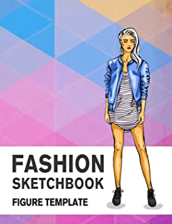 Fashion Sketchbook Figure Template: 430 Large Female Figure Template for Easily Sketching Your Fashion Design Styles and Building Your Portfolio