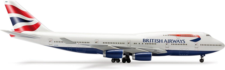 auténtico Herpa 552226 Wings - British Airways Boeing 747-400    Union Flag  tiempo libre