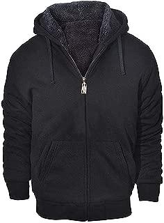 GEEK LIGHTING Men's Zip Up Fleece Hoodies Winter Heavyweight Sherpa Lined Thermal Jackets