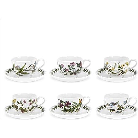 Ceramic Portmeirion BAAMYT04153 Botanic Garden Harmony Breakfast Cup and Saucer Moss Green