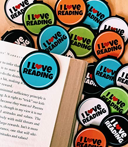 I Love Reading! Bookmarks - 36 Bulk Bookmarks for Kids Girl's Boys- School Student Incentives – Library incentives – Reading Incentives - Party Favor Prizes - Classroom Reading Awards!