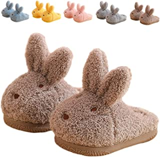 ZHENTAO Toddler Girls Slippers Boys Girls Fluffy Home Slippers Winter Warm Indoor Cute Bunny Shoes
