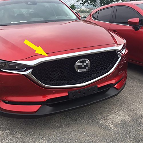 Beautost For Mazda 2017 2018 2019 2020 CX-5 CX5 Chrome Front Hood Grill Cover Bonnet Trim