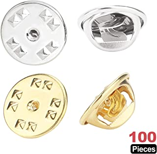 Metal Locking Pin Backs Lapel Pin Clutch Back Scatter Butterfly Clutch Squeeze Badge Holder Jewelry Findings Pin Back