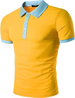 Men's Fake Pocket Cuff Button Short Sleeve Polo Shirts
