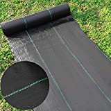 Happybuy Landscape Fabric 4ft x 250ft - Geotextile Fabric Heavy Duty 5oz - Ground Cover Non Woven...