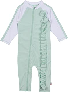 SwimZip UPF 50+ Girls Long Sleeve Sunsuit (Multiple Colors)
