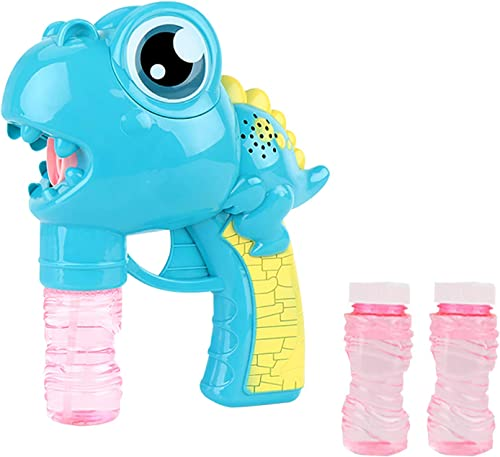wholesale Bubble Gun for Kids, online Summer Bubble Gun Blower Toy, Cute discount Cartoon Dinosaur Bubble Machine Toy for Kids Outdoor Fun, Birthday Party Gift - with Bubble Solution (50ml) (Blue) online sale
