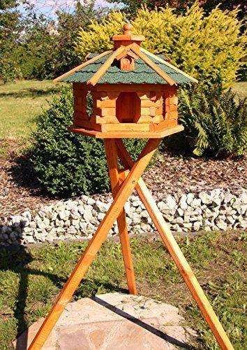 Großes Vogelhaus mit Standfuß Typ 5 (grün)