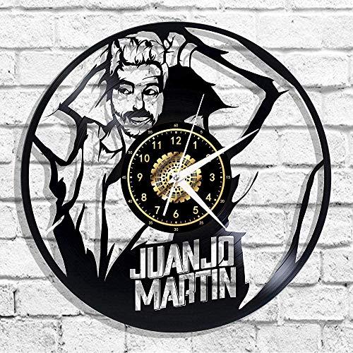 szhao Juanjo Martin Reloj de Pared de Vinilo Reloj de Pared Que conmemora el Regalo de Dormitorio Art Deco de 12 Pulgadas