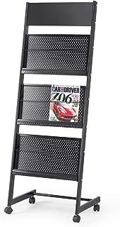 BESISOON Porte-revues sur Pied Roulement étage Porte-revues Affichage Portable Littérature Catalogue de Rack 3 Poches for ...