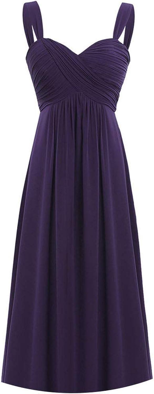 4 colors Formal AnkleLength Bridesmaid Dress Sleeveless VNeck White Black Dress