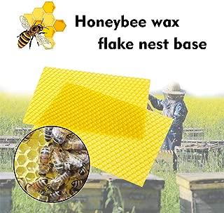 30pcs Beekeeping Nest Box Nest Foundation, Pure and Natural Filtered Beeswax Sheets, Bee Honey Frame Sheets Beekeeping Raising Tools (Yellow, 30pcs)