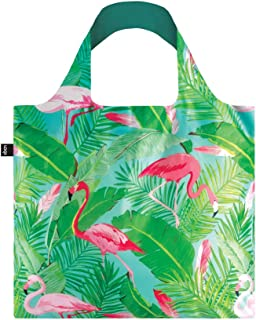 LOQI Artist Wild Flamingos Bag Borsa da spiaggia, 50 cm, 20 liters, Multicolore (Multicolour)