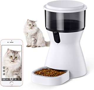 isYoung 4L Smart Pet Feeder, Automatic Wi-Fi Pet Feeder with HD Camera for Video and 2-Way Audio Communication for Cats and Dogs - App for Android and iOS