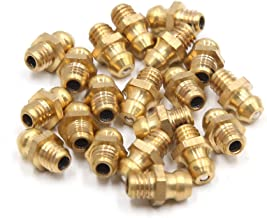 uxcell 20Pcs M6 x 1 Thread Brass Straight Grease Zerk Nipple Fitting for Auto Car