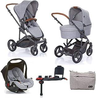 565078ced Kit Carrinho Moisés COMO 4 com Bebê Conforto com Base Isofix + Bolsa Wover  Gray (