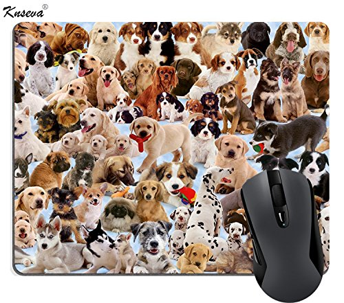 Dogs Galore Mouse Pad Custom, Cute Pets Puppies Mouse Pads Large Funny Mat