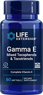 Life Extension Gamma E Mixed Tocopherols & Tocotrienols - Complete Spectrum of Vitamin E for Antioxidant Protection - Glut...