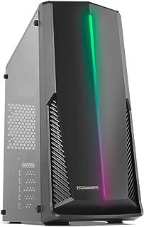 Nox Hummer Spark ARGB NXHUMMERSPARK Caja PC, Semi-Torre, Tira LED ARGB Rainbow, Ventana Lateral acrílica, Negro