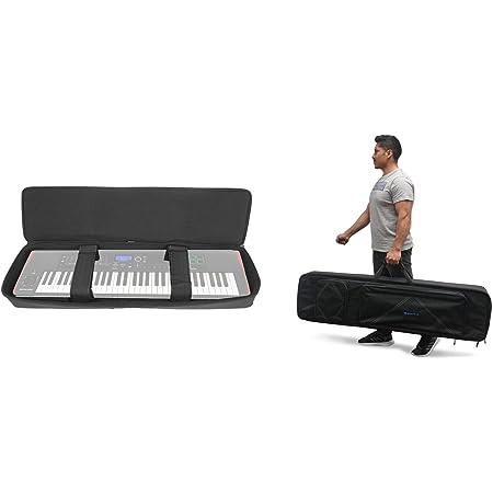 Rockville 76 Key Keyboard Case w//Wheels+Trolley Handle For Roland AX-EDGE