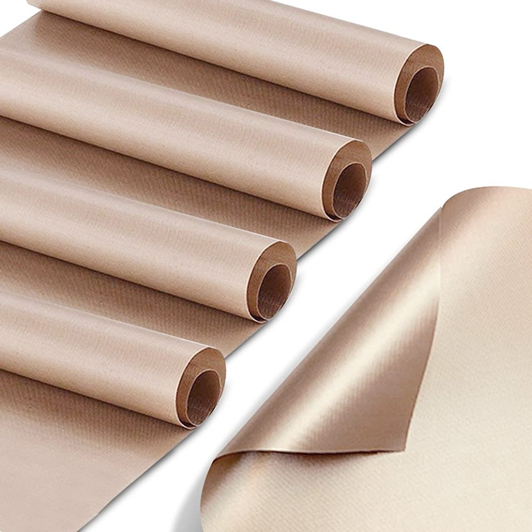 5 Pack Teflon Sheet for Heat Press, YGDZ 16 x 24 inch Transfer Sheet Barbecue Grill Mat Baking Easy Press Sheet Non Stick Heat Resistant Craft Mat