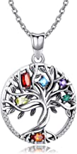 Odinstone 925 Sterling Silver Pendant, Tree of Life Necklace for Women Girls,Cubic Zirconia Necklace Fine Jewellery Gifts for Wife, Mum and Girlfriend