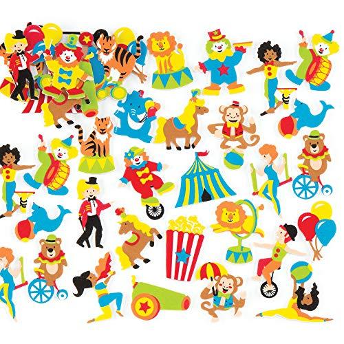 Baker Ross Zirkus-Schaum-Aufkleber (120 Stück) für Kinder zum Dekorieren, Basteln, Karten und Scrapbooking