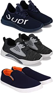 Zenwear Sports Running, Loafers, Sneakers Shoes for Men Pack of 3 Combo