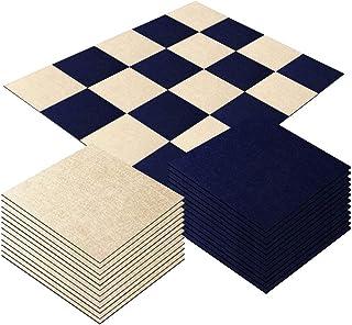 Self Adhesive Carpet Floor Peel Tile Square 20Pcs 25 x 25cm Anti-Slip No Fatigue Mat Area Rug Floor Protect Pads Easy Inst...